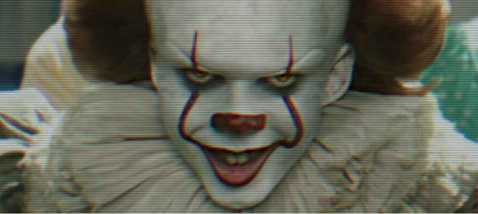 IT film 2017 Pennywise the Dancing Clown played by actor Bill Skarsgard